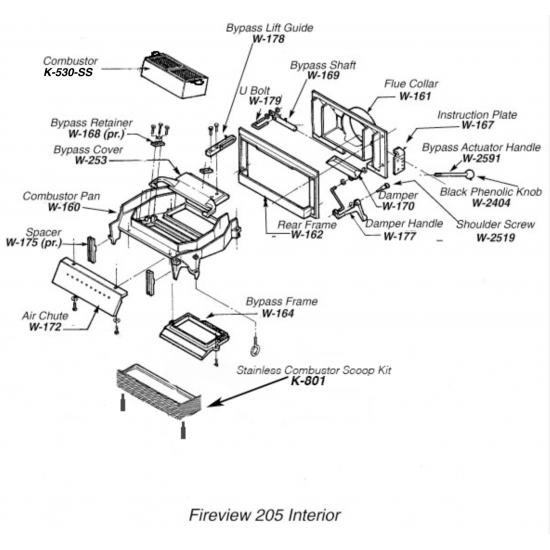 Fireview 205 Internal Parts & Gaskets