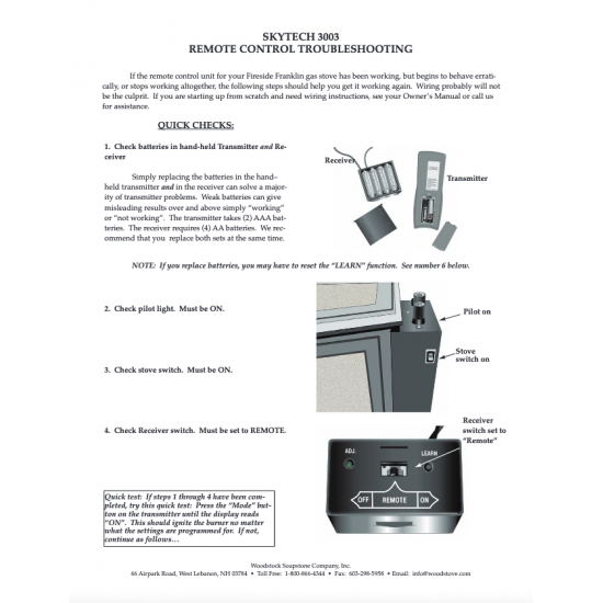 Skytech 3003 Remote Control Troubleshooting