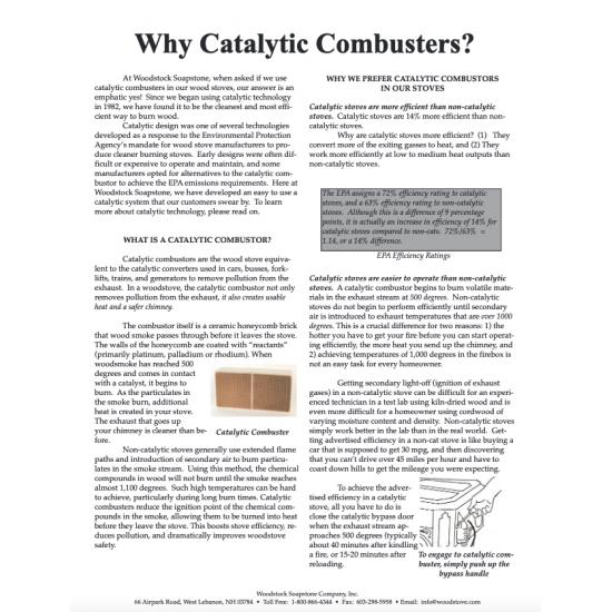 Why Catalytic Combustors?