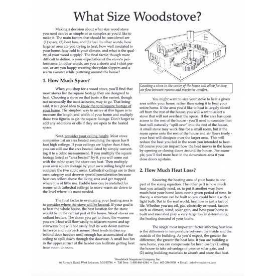 Wood Stove Sizing Guide