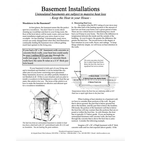 Basement Installations