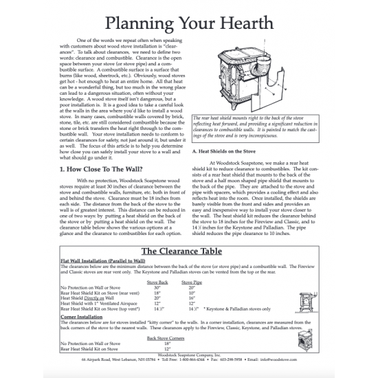 Planning Your Hearth