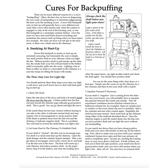 Cures for Backpuffing