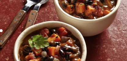 Wood Stove Home Cooking: Sweet Potato & Black Bean Chili for Two