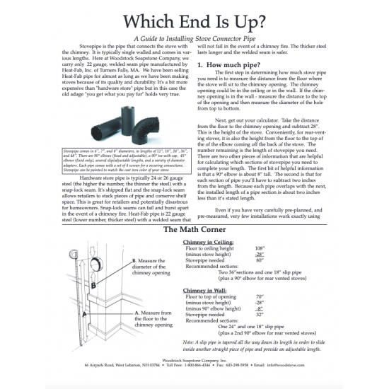 Which End Is Up? How to Install Stovepipe Correctly